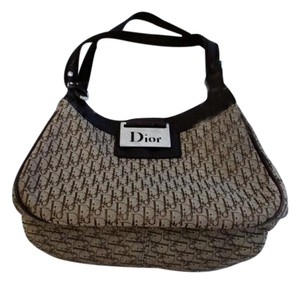 Dior Christian Leather Logo Shoulder Bag