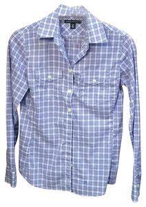Banana Republic Button Down Shirt Purple check