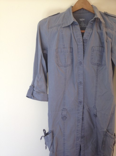 Other short dress Denim-color Military Shirtdress Empire Waist Flash Sale on Tradesy