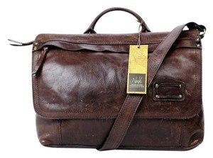 Patricia Nash Designs Messanger Leather Chocolate Messenger Bag