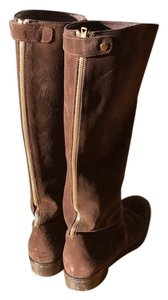 J.Crew Brown gold Boots