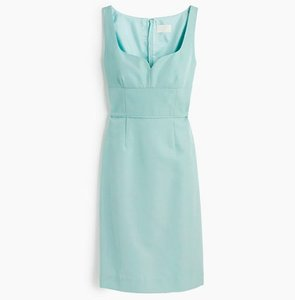 J Crew Sea Spray Classic Faille In Item C5552 Color Formal Bridesmaid Mob Dress