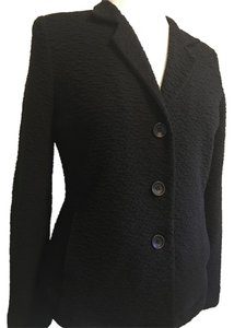 Eileen Fisher Puckered Pockets Petite Black Blazer