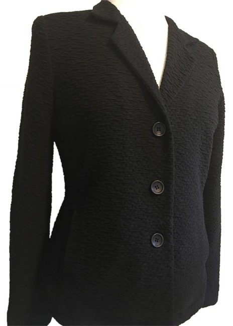 Preload https://img-static.tradesy.com/item/20071424/eileen-fisher-black-blazer-size-petite-8-m-0-1-650-650.jpg