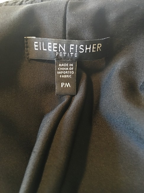 Eileen Fisher Puckered Pockets Petite Black Blazer Image 4