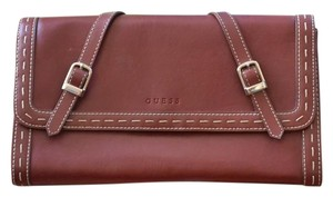 Guess Leather Merlot Burgandy Red Clutch