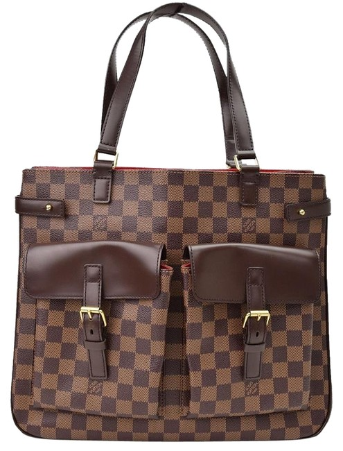 Louis Vuitton Limited Edition Damier Monogram Discontinued Purse Brown Leather Shoulder Bag Image 1