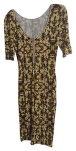 Anthropologie short dress Yellow floral on Tradesy