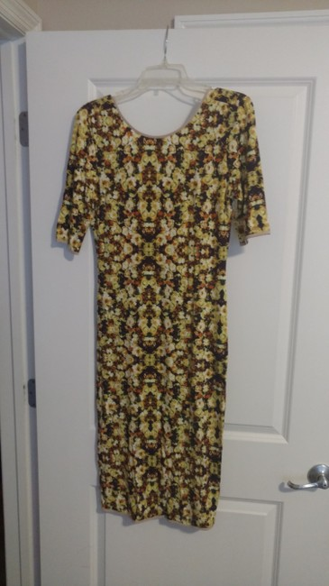 Anthropologie short dress Yellow floral on Tradesy Image 1