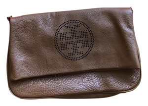 Tory Burch Leather Brown Clutch