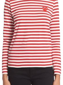 COMME des GARÇONS T Shirt Red and white