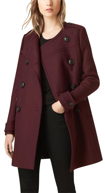 Item - Burgundy Cocoon Antwood Cashmere Coat Size 4 (S)