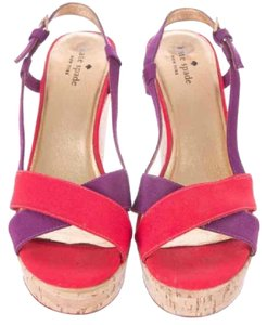 Kate Spade Pink & Purple Wedges