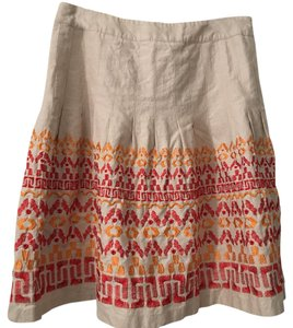 Peter Nygard Skirt Tan/red/orange