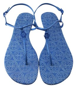 Tory Burch Emmy Stitched Leather Marion Ocean Breeze Sandals