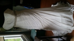 David's Bridal Crinkle Chiffon Wedding Dress With Draping David Tutera Style V3540 Wedding Dress