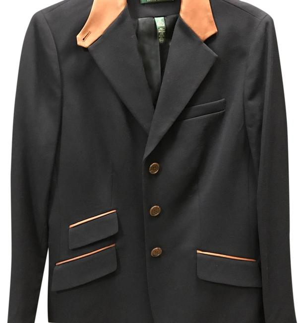Item - Navy/Brown Trim Rider Blazer Size 10 (M)