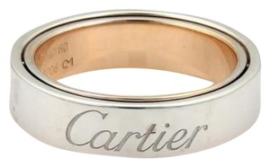 Cartier Cartier 18k Two Tone Gold Secret Love Band Ring 5.5mm Eu 60- 9.25