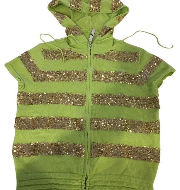 Item - Lime Green Cashmere Hoodie Cardigan Size 0 (XS)