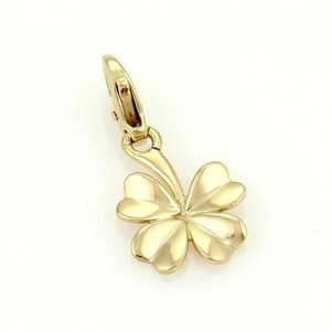 Chanel Chanel Vintage 18k Yellow Gold Four Cloverleaf Charm Pendant
