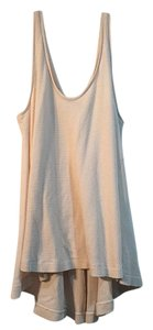 Free People Ribbed Cover Up Summer Thin Nude Top Nude, Tan