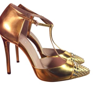 Gucci Women Gold Pumps