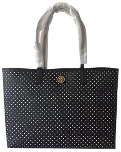 Tory Burch Tote in BLACK WHITE POLKA DOT