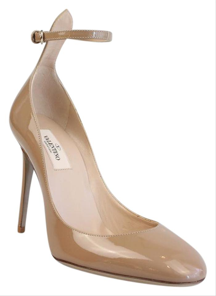 24b4a69d01 Valentino Nude Tango Patent Leather Ankle Strap Pumps Size US 8 ...