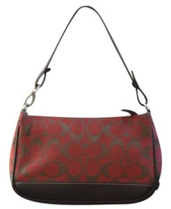 Coach Wristlet red Clutch