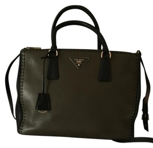 Prada Leather 3 Main Compartments Shoulder Bag