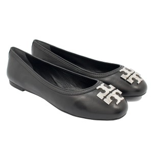 Tory Burch 34289 Black/Silver Flats