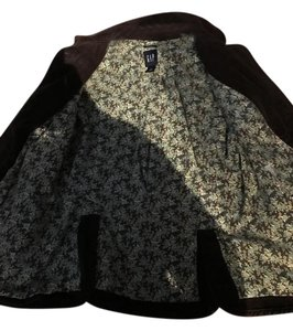 Gap Brown Corduroy (Flower Print inside) Blazer