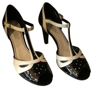Franco Sarto Black and cream Pumps
