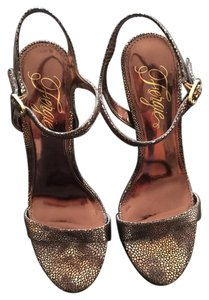 Fergie Leather Bronze Sandals