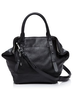 Mackage Tote Travel Handbag Leather Club Monaco Satchel in Black