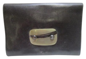 Other Vintage Brazil Shell Polished 'Shell' Design Front Snap Closure Clutch