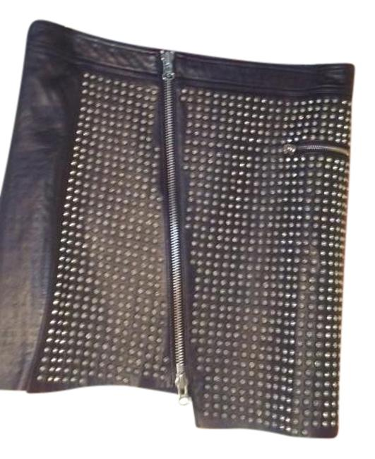 Preload https://img-static.tradesy.com/item/20072642/pam-and-gela-black-studded-leather-miniskirt-size-4-s-27-0-1-650-650.jpg