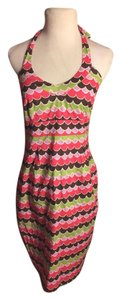 Boden short dress Pink/White/Brown/Purple on Tradesy