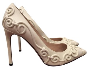 Valentino Runway Swirl Stiletto Ivory Pumps