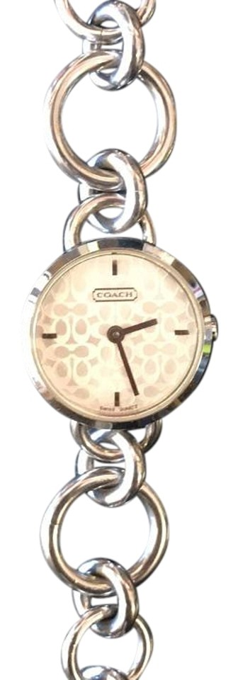Coach Charm Bracelet Signature Logo Face Watch Tradesy