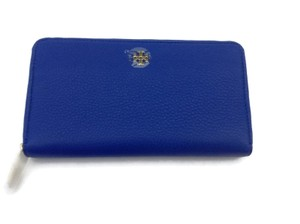 Tory Burch Mercer Zip Around Continental Wallet Jelly Blue