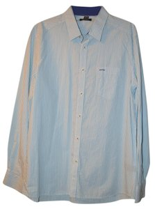 Kenneth Cole Button Down Shirt Wht/Blue