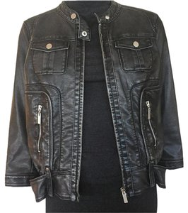 Cache Leather Zip-front Leather Jacket