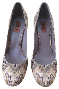 Missoni Flamestitch Multi - Rust, beige, peach, blue Pumps