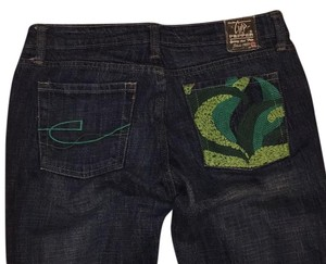 Chip & Pepper Olivia embroidered jeans 27 Boot Cut Pants Medium blue