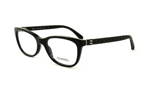 Chanel NEW Chanel 3288Q Black Quilted Leather Eyeglasses Cat Eye