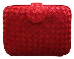Party Satin Red Clutch