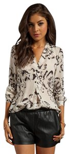 Rebecca Taylor Flower Romantic Silk Top Black/Ivory