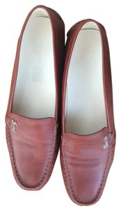 Gucci Driving Moccasin Loafer Burgandy / Russet Flats
