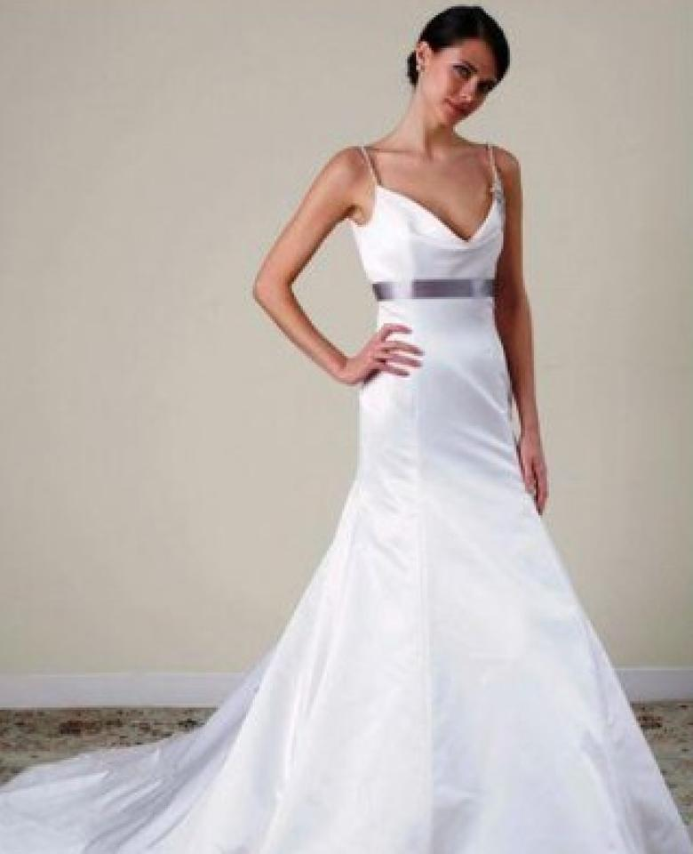 Cowl Neck Satin Wedding Dresses: Alvina Valenta Creme Ivory Duchess Satin Low V Back Cowl